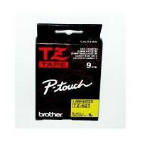 Páska do štítkovače Brother TZe-621 9mm černý tisk/žlutý podklad