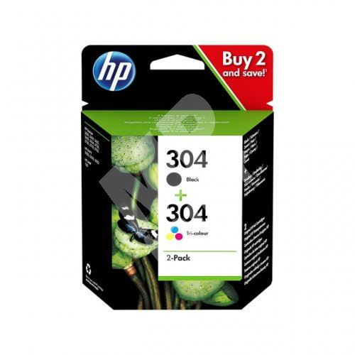 Cartridge HP 3JB05AE, No.304, 2-pack, originál 1