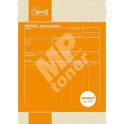 Faktura A4, samopropisovací, 100 listů, OP1071 1