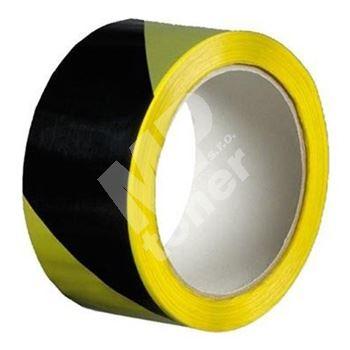Výstražná lepicí páska žluto-černá 50mm / 22m
