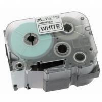 Páska do štítkovače Brother TZe-555 24mm bílý tisk/modrý podklad