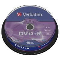 Verbatim DVD+R, DataLife PLUS, 4,7 GB, Scratch Resistant, cake box, 43498, 10-pack