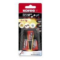 Lepidlo Kores Power Glue Gel 3 x 1g 1