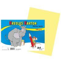 Kreslící karton A4, 180g, kremový, 50 listů