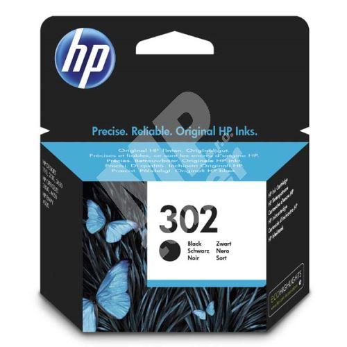 Cartridge HP F6U66AE, black, No.302, originál 1