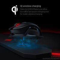 Podložka pod myš HP OMEN by HP Outpost nabíjecí Qi, herní, černá, 346x344 mm, 10.5 mm 11