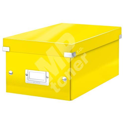 Archivační krabice na DVD Leitz Click-N-Store WOW, žlutá 1