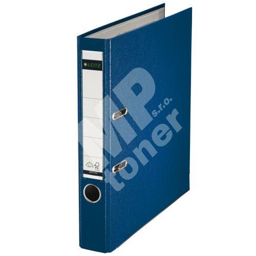 Pákový pořadač Leitz 180, A4, 52 mm, PP/karton, se spodním kováním, modrý 1