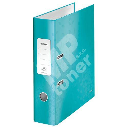 Pákový pořadač 180 Wow, ledově modrá, lesklý, 80 mm, A4, PP/karton, LEITZ 1