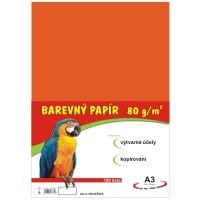 Barevný papír A3, 80g, oranžový, 100 listů