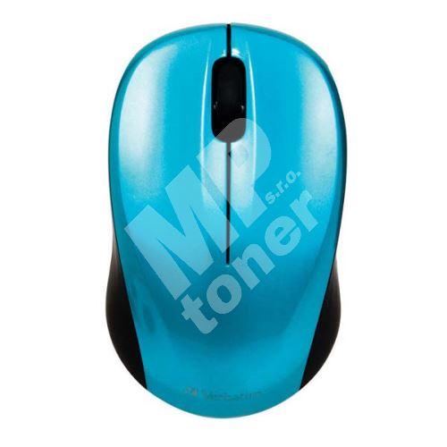 Verbatim myš bezdrátová, 1 kolečko, USB, modrá, 1600dpi 1