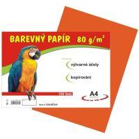 Barevný papír A4, 80g, oranžový, 100 listů