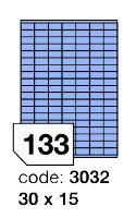 Samolepící etikety Rayfilm Office 30x15 mm 300 archů, matně modrá, R0123.3032D