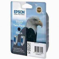 Inkoustová cartridge Epson C13T007402, Stylus Photo 870, 875D, černá, 1x32ml, 2ks originál