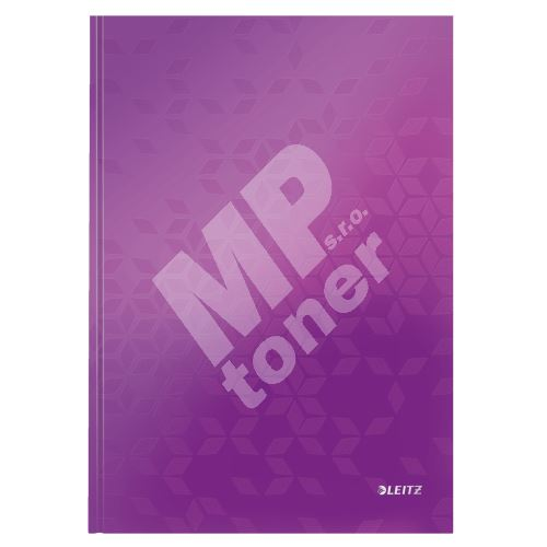 Zápisník Leitz WOW A4, linkovaný, purpurový 1