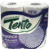 Tento Ellegance Pearl White toaletní papír bílý bez vůně 3 vrstvý 4 kusy