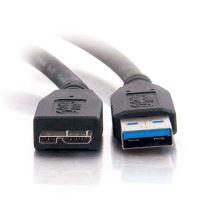 USB kabel (3.0), A-micro(B), M/M, 0.5m, No Name, blistr 2