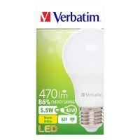 LED žárovka Verbatim E27, 52631, 5.5W, 470lm, 2700k, teplá, 15000h