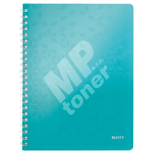 Blok na psaní Leitz WOW A4, linkovaný, drátěná vazba s PP deskami, ledově modrý 1