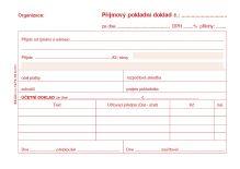 Příjmový pokladní doklad pro podv. účetn. samopropis 3030, PT 030 / 50 listů jeden 2