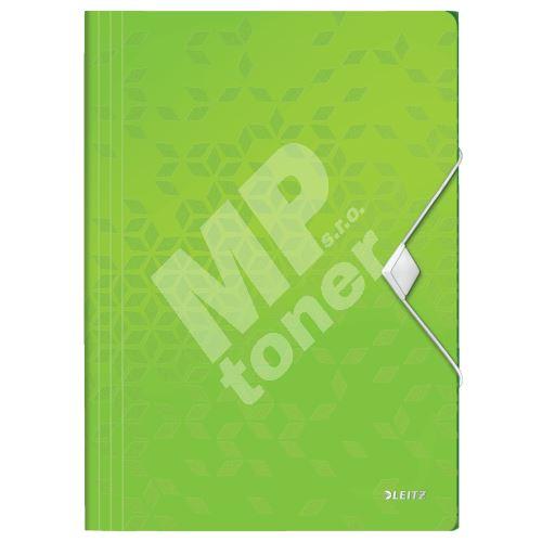 Desky s gumičkou Leitz WOW, A4, PP, zelená 1