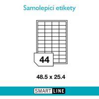 Samolepící bílé etikety Smart Line A4 48,5 x 25,4 mm 100 archů