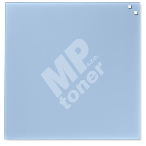 Skleněná magnetická tabule Naga 45 x 45 cm, světle modrá 1
