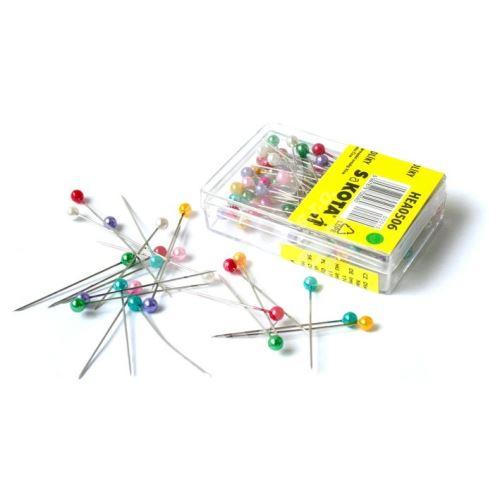 Špendlíky aranžerské s plastovou hlavičkou HEA0506, 1bal/100ks 2