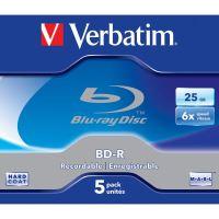 25GB Verbatim BD-R SL, jewel, 43715, 6x, 5-pack