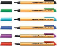 Fix Greenpoint, mix barev, 0,8mm, 40ks/displej, STABILO 1