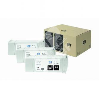 Inkoustová cartridge HP C4930A černá, No. 81 originál