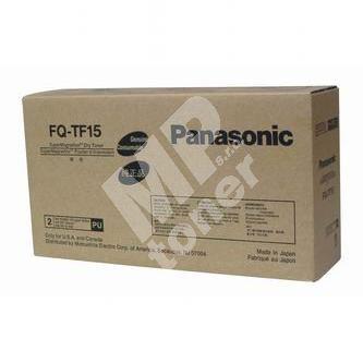 Toner Panasonic FQ-TF15, černý, 2x185g, originál