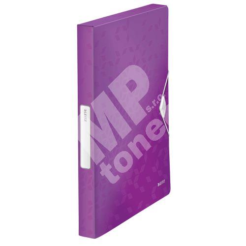 Desky s gumičkou Wow Jumbo, purpurová, 30 mm, PP, A4, LEITZ 1