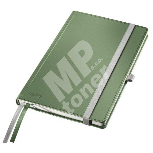 Zápisník Leitz STYLE A5, tvrdé desky, linkovaný, zelenkavý 1