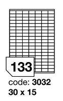 Samolepící etikety Rayfilm Office 30x15 mm 300 archů, inkjet, R0105.3032D
