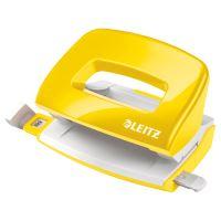 Mini děrovačka Leitz NeXXt WOW 5060, metalický žlutý