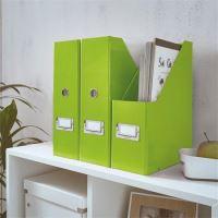 Stojan na časopisy Click & Store, zelená, lesklý, 95 mm, PP/karton, LEITZ 3