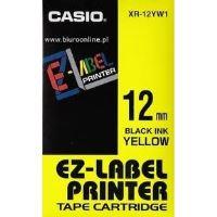 Páska do tiskárny štítků Casio XR-12YW1 12mm černý tisk/žlutý podklad