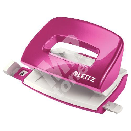 Miniděrovač Leitz NeXXt 5060, 10 listů, metalický růžový 1