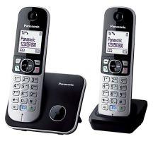 Bezšňůrový telefon Panasonic KX-TG6812FXB, černý