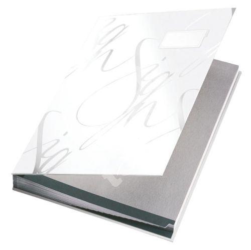 Podpisová kniha designová Leitz, bílá 1