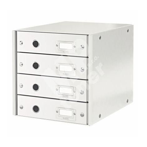Archivační box zásuvkový Leitz Click-N-Store, 4 zásuvky, bílý 1