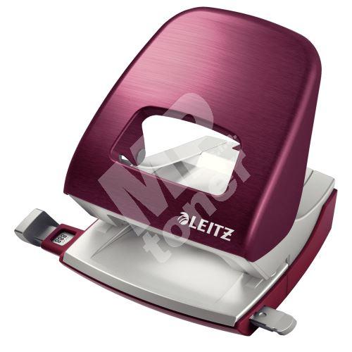 Děrovač Leitz NeXXt STYLE 5006, 30 listů, granátově červený 1