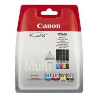 Inkoustová cartridge Canon CLI-551 CMYK, iP7250, MG5450, MG6350, CMYK, 6509B008, originál
