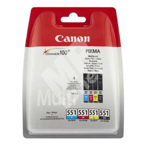 Cartridge Canon CLI-551 CMYK, 6509B008, originál 1