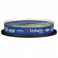 Verbatim CD-RW, DataLife PLUS, 700 MB, Scratch Resistant, cake box, 43480, 8-12x, 10-pack