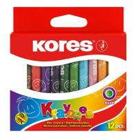 Voskové pastelky Kores Krayones, kulaté, 12 barev