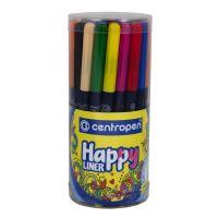 Popisovač Centropen 2521 Happy Liner, dóza, sada 36 barev