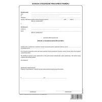 Dohoda o rozvázání pracovního poměru, volný list A4, OP1135