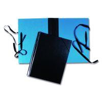 Spisová deska A4 hřbet, tkanice, modrá